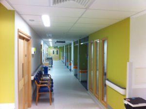 Hospital interior repainted