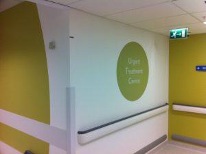 Hospital hallway renovated