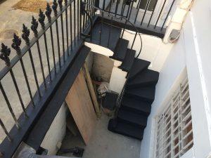 Outdoor stairway repainted